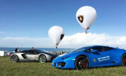 热气球租赁的光雕表演观赏性很好