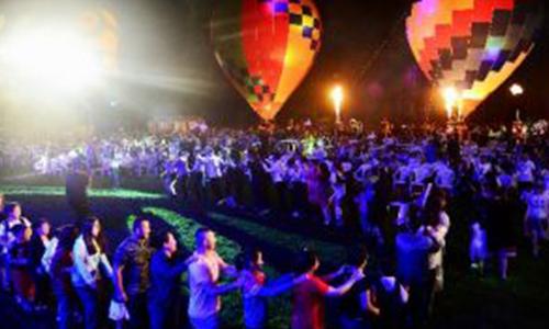 大连万科热气球光雕音乐节