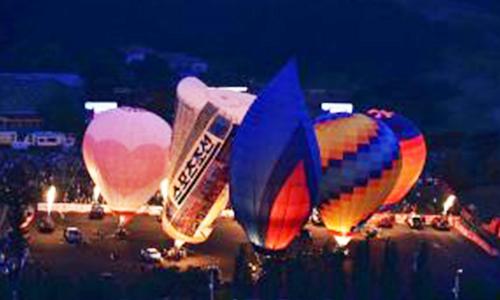 辽宁千山热气球光雕音乐节