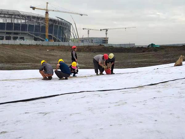 成都人工湖土工膜施工