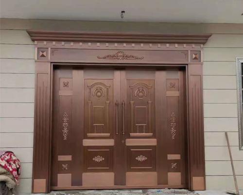 中式不锈钢镀铜门