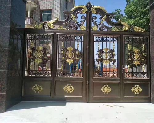 别墅铸铝庭院门