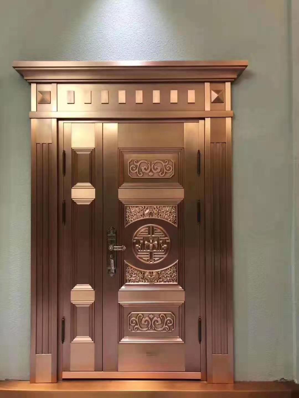 豪华不锈钢镀铜门