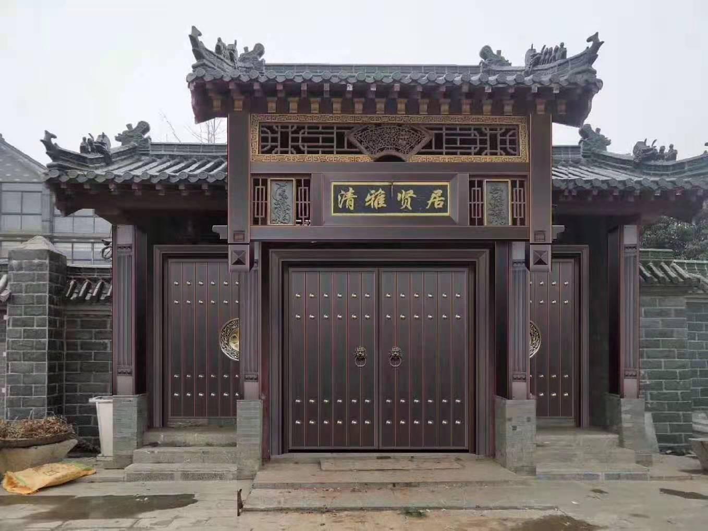 罗田中式铜门楼工程