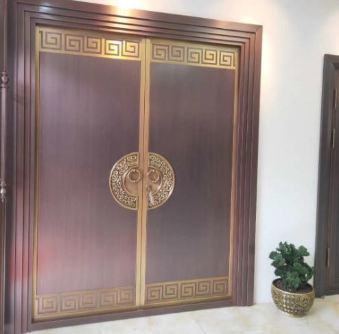 长沙新中式铜门工程