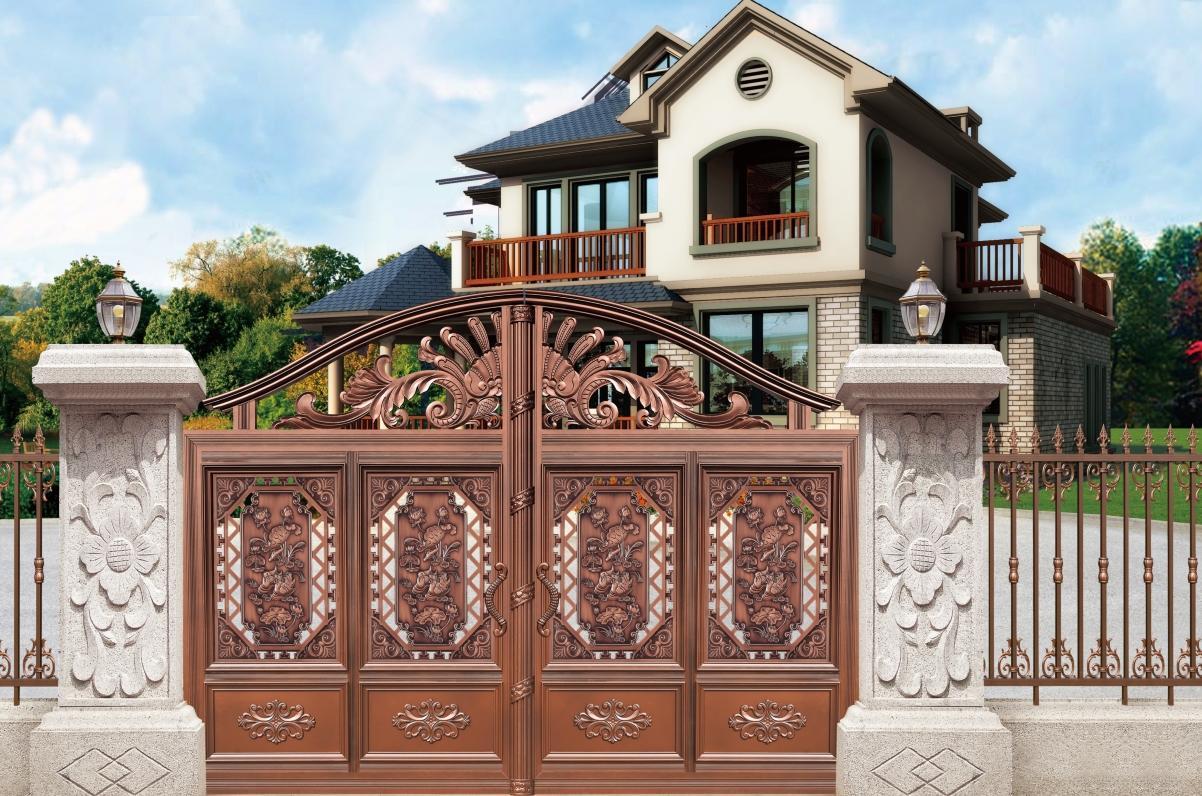 长沙铝庭院门安装