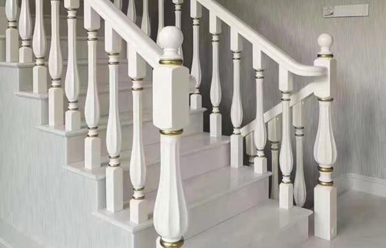 欧式实木楼梯扶手