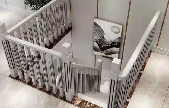 现代实木楼梯扶手