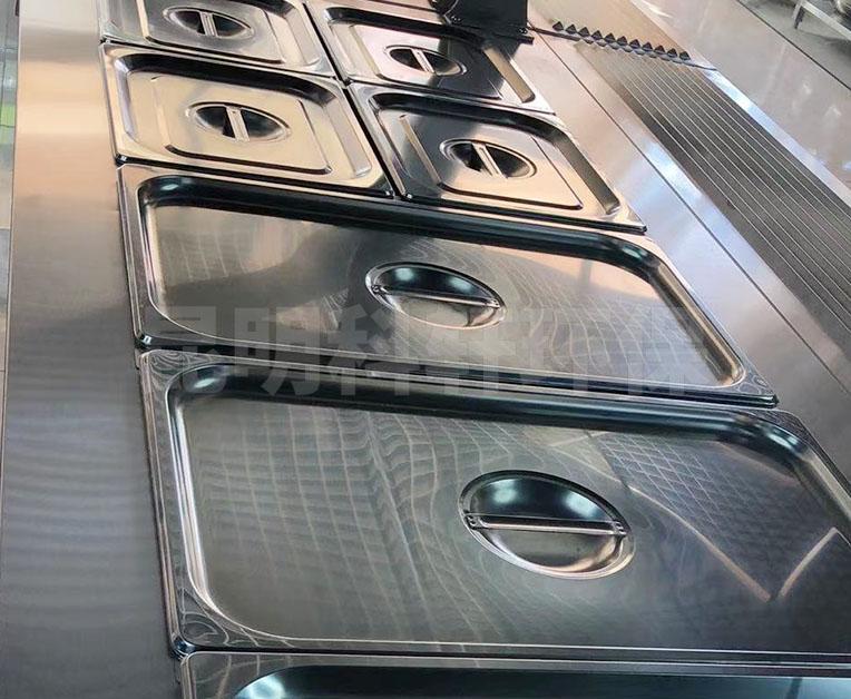 不锈钢方盆带盖餐盘