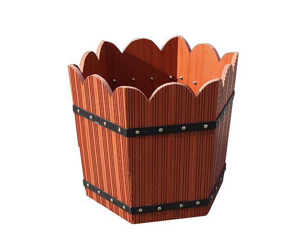 六角木塑花箱
