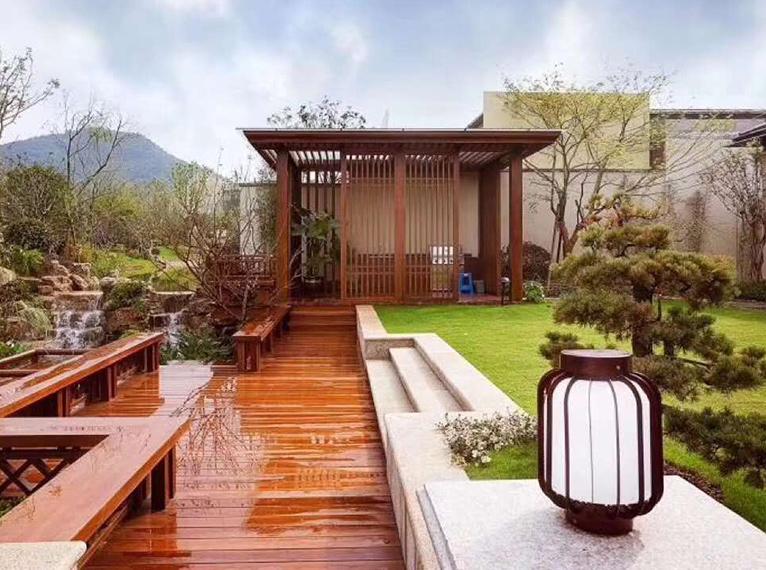 防腐木庭院露台
