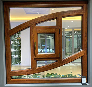 中式铝包木窗