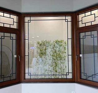 别墅铝包木窗