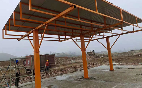 6乘9米单排200大方钢柱子式钢筋棚
