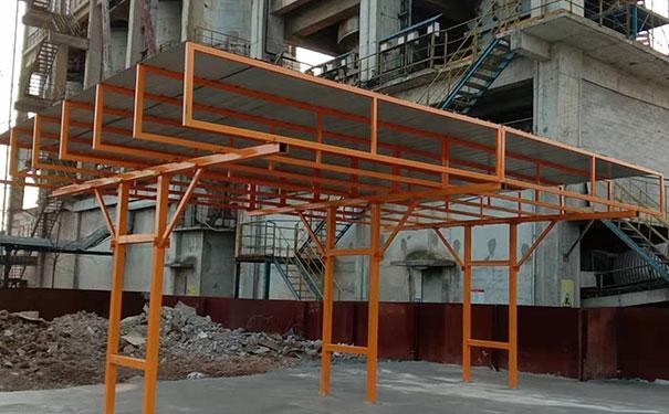 6乘6米双排方钢柱子式钢筋棚