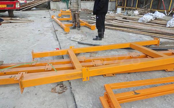 4乘6米双排方钢柱子式钢筋棚