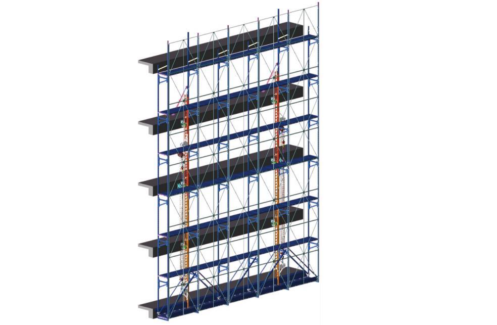 爬架主体结构