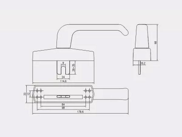 铝合金门窗五金配件是其重要组成部分