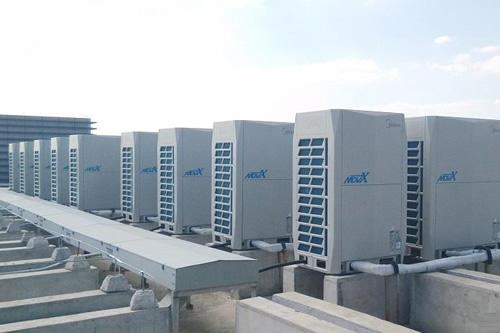 韩城二电厂中央空调机组清洗