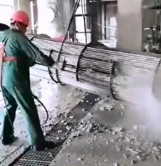 我公司为陕西陕化煤化工集团有限公司合成分厂换热器壳程高压水清洗