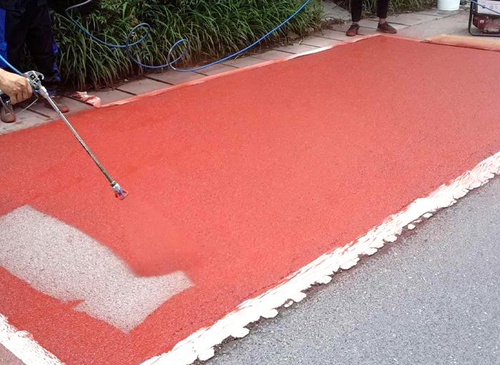 路面改色工程案例