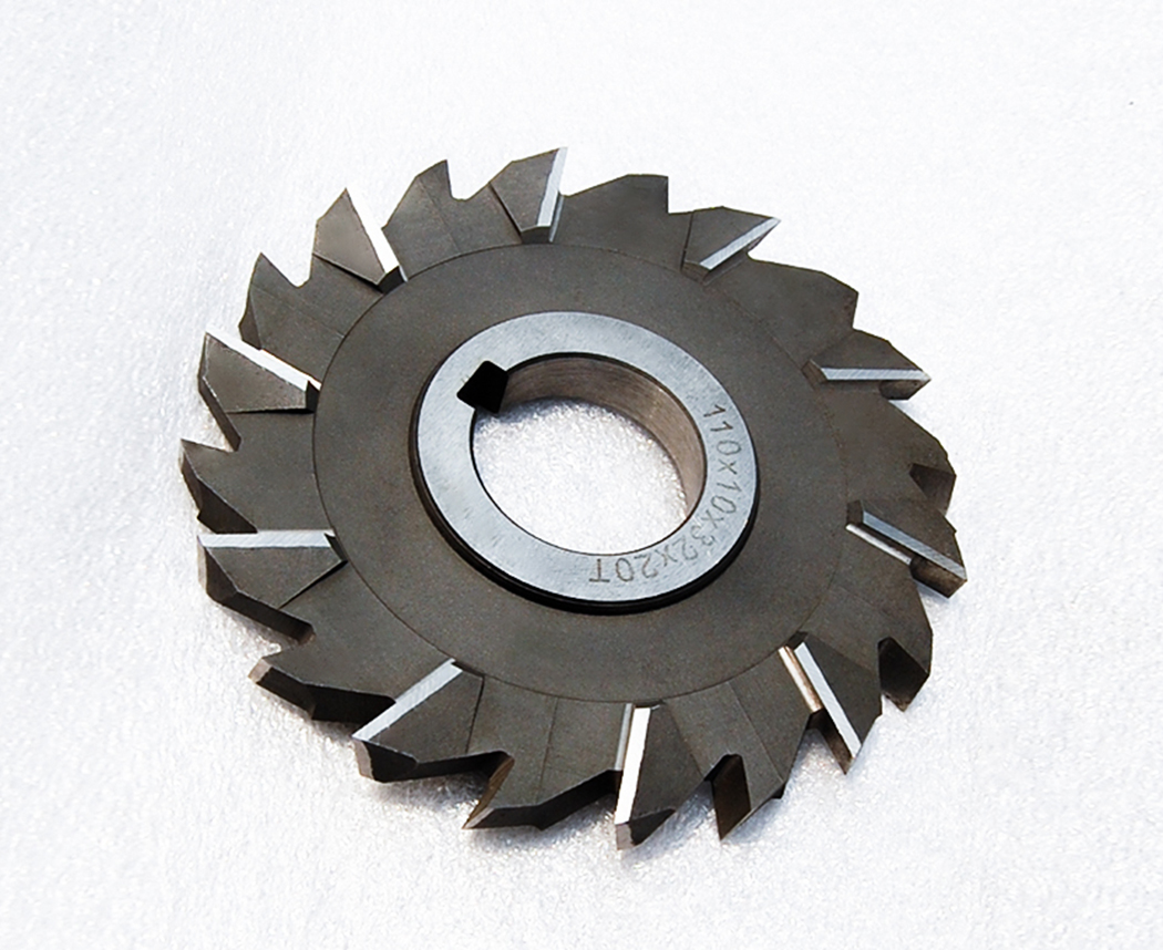 High-speed steel staggered three-face milling cutter