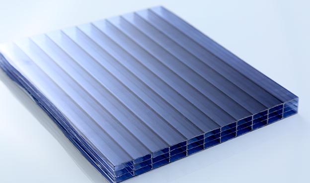 深蓝四层透明阳光板