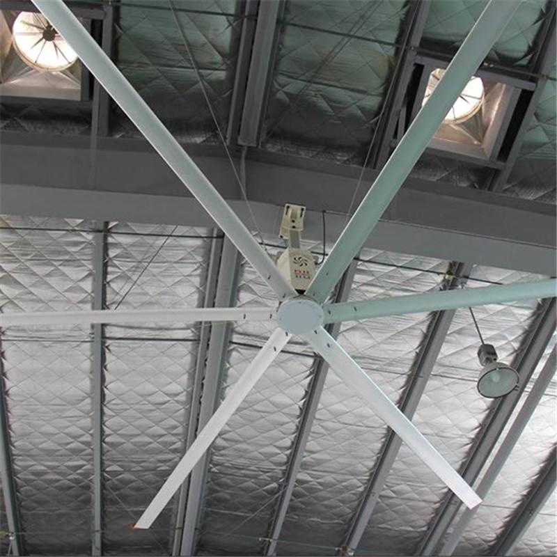 柳州伟力机械-工业风扇促进加工厂通风降温作用原理