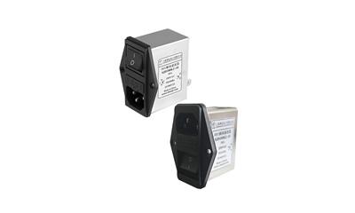 带保险丝和开关IEC插座滤波器