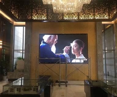 中央公園某售樓部 室內P2.5全彩顯示屏