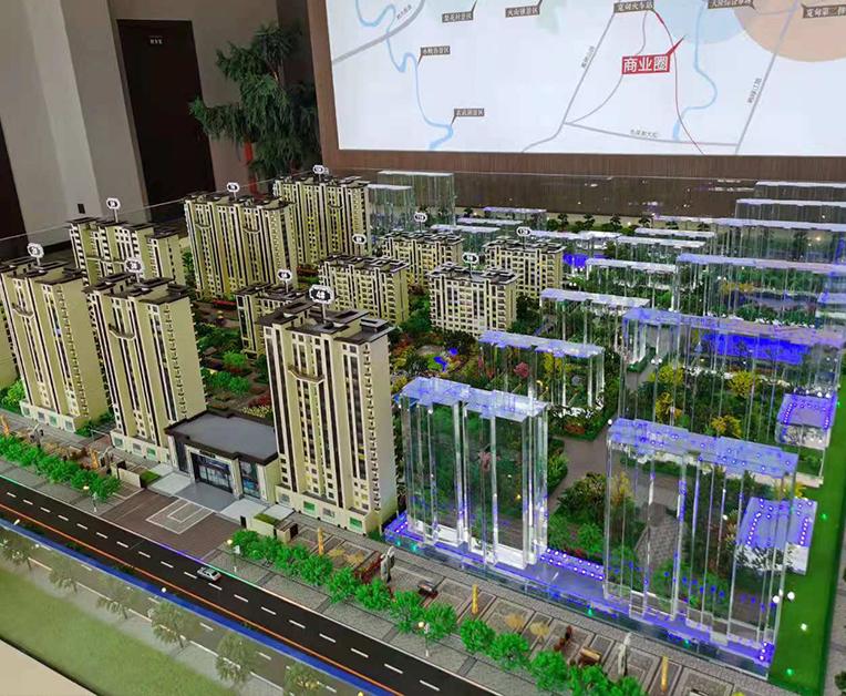 万江首府房地产售楼处沙盘案例