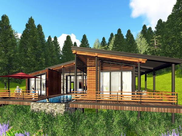 现代风木屋