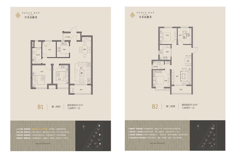 京涿和樾湾B1/B2户型图