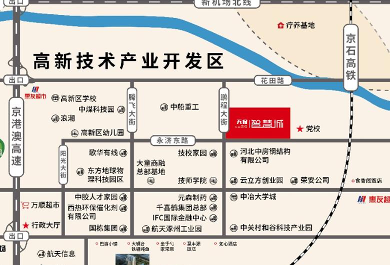 天保智慧城区域交通图