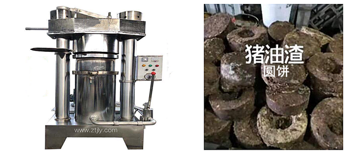 液压式动物油渣圆饼榨油机