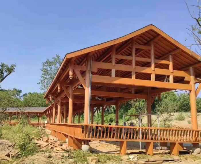 成都青龙湖湿地公园项目—木结构