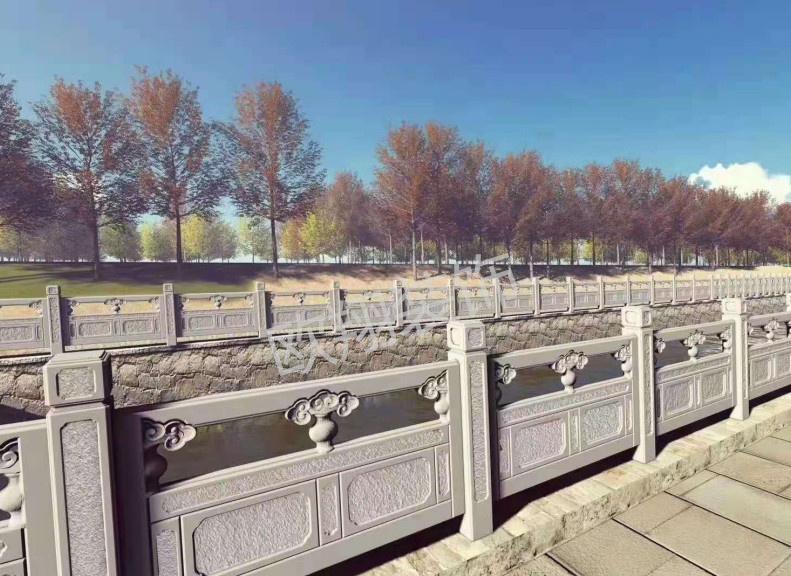 园林景观石雕栏杆