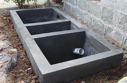 農村水泥化糞池