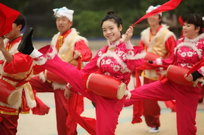 陕北腰鼓是陕北秧歌的重要组成部分