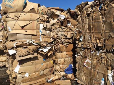 回收废纸箱