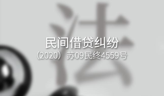 民间借贷纠纷 --(2020)苏09民终4559号