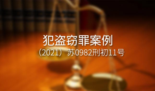 犯盗窃罪案例--(2021)苏0982刑初11号