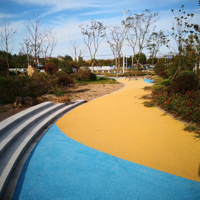 彩色生态透水地坪