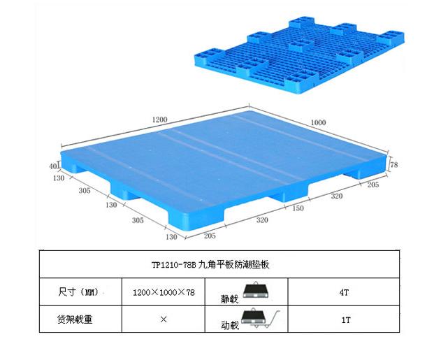 TP1210-78B九角平板防潮垫板