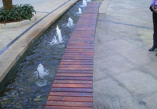 公园广场防腐木坐凳