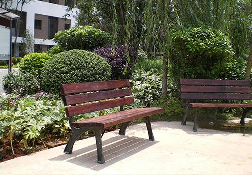 公园防腐木座椅