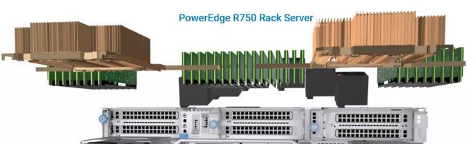 杭州戴尔代理商关于升级后的戴尔R750服务器内部结构详解