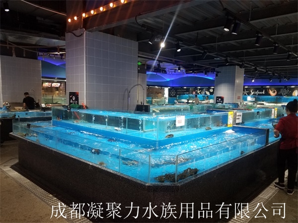 重庆超市海鲜池定做厂家