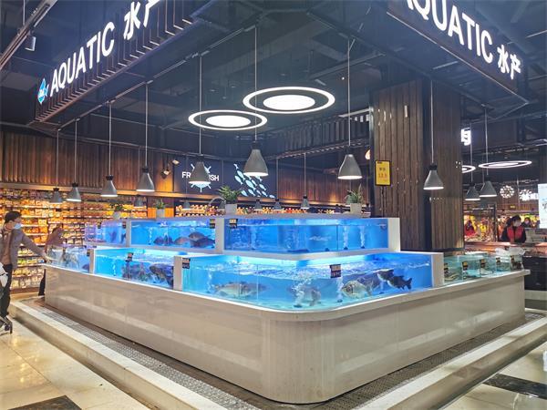 重庆商超鱼缸制作