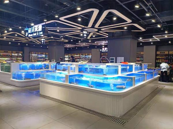 重庆商超鱼缸安装